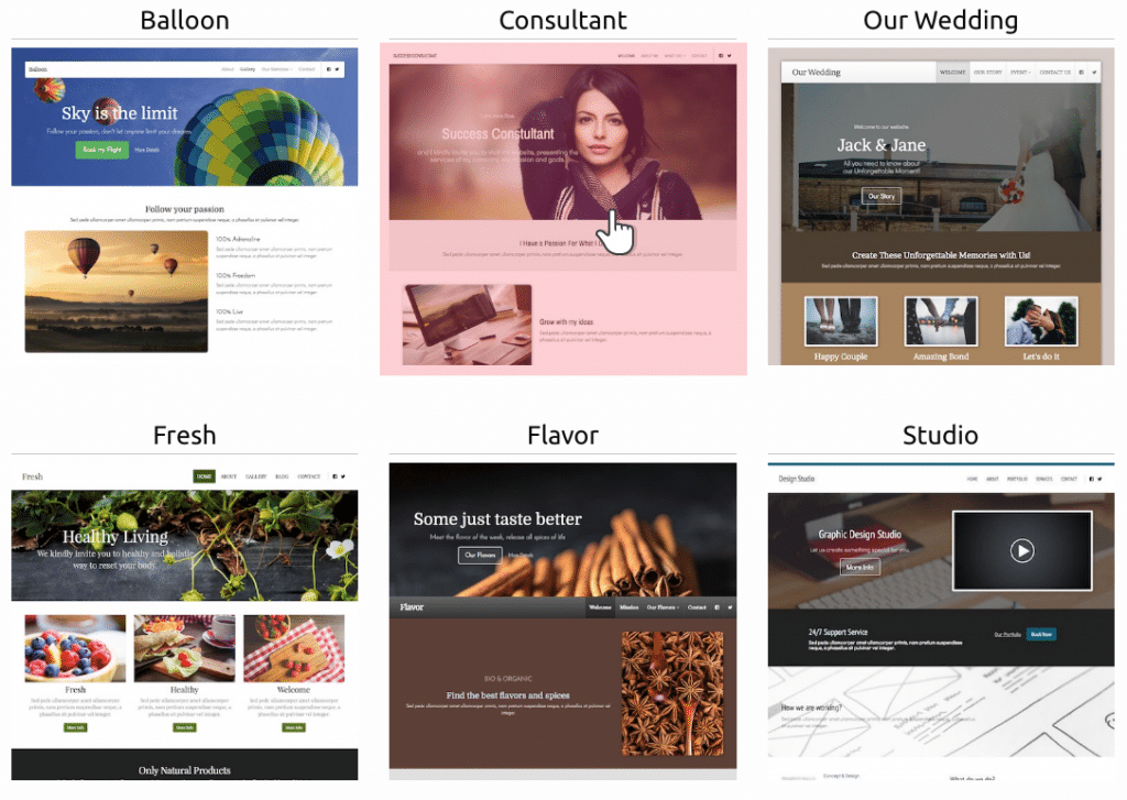 new-site-builder-a-variety-of-themes