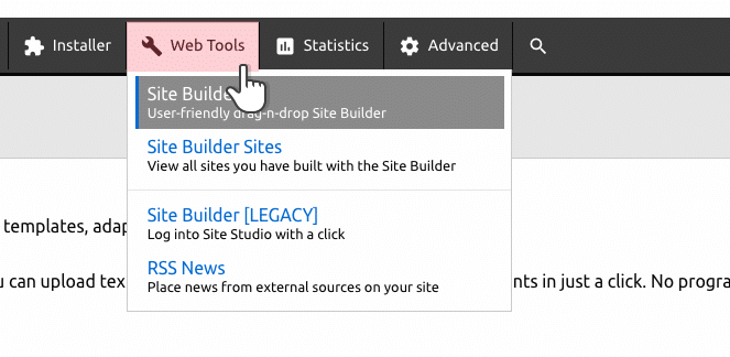 new-site-builder-in-control-panel