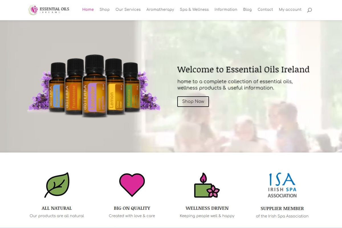 essential oils ireland bbh client